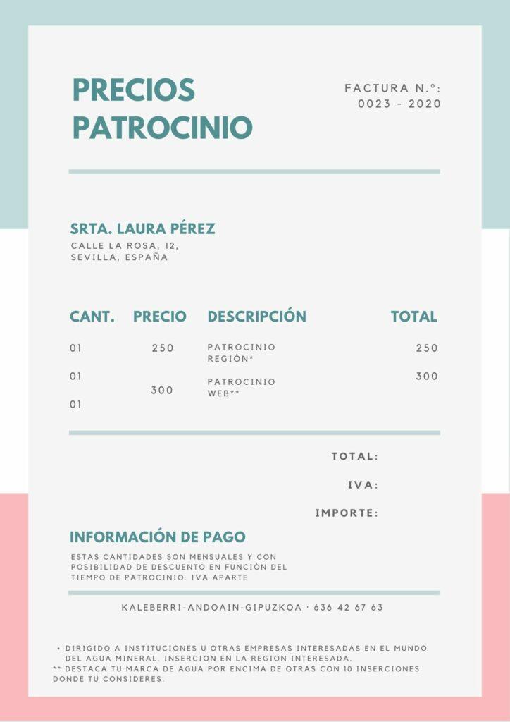 Factura Pastel Minimalista 1 724x1024 - Tarifas